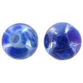 Blue & White Round Beads - 10mm
